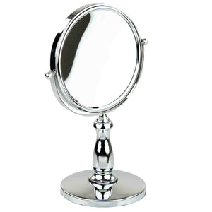 Home Basics Nadia Double Sided Cosmetic Mirror, Chrome CASE PACK OF 6