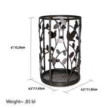 Load image into Gallery viewer, Home Basics Birdsong Collection Steel Free-Standing Round Cutlery Holder, Dark Brown CASE PACK OF 12