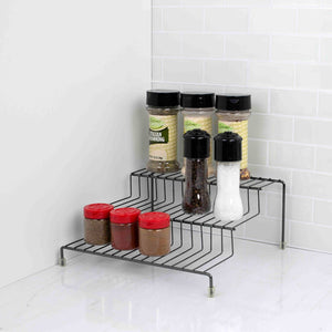 Home Basics 3 Tier Steel Seasoning Rack, Black Onyx CASE PACK OF 12