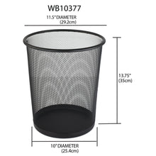 Load image into Gallery viewer, Home Basics Mesh Steel Waste Basket