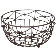 Load image into Gallery viewer, Home Basics Arbor Collection Large Capacity Decorative Non-Skid Steel Fruit Bowl, Oil Rubbed Bronze CASE PACK OF 12