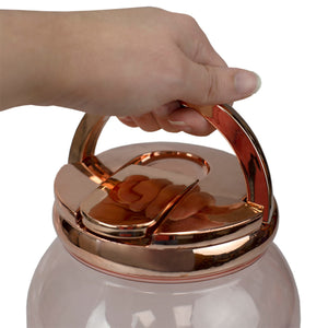 Home Basics 3.78 Lt Plastic Beverage Dispenser, Rose Gold CASE PACK OF 6