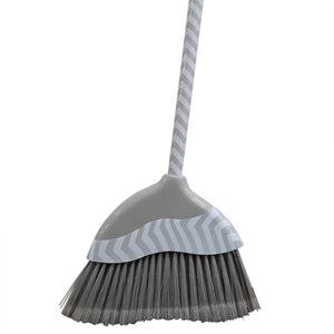 Home Basics Chevron Precision Clean Wide Angled Broom, Grey CASE PACK OF 12