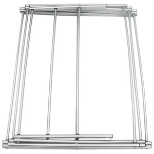 Sunbeam 3 Tier Rust-Proof Enamel Coated Steel Collapsible Clothes Drying Rack, Grey CASE PACK OF 4