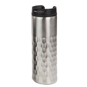 Home Basics Hammered Stainless Steel 13.5 oz. Travel Mug