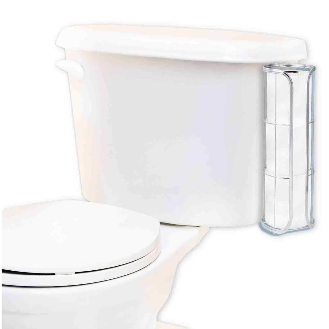 Home Basics Chrome Plated Steel Over the Tank Toilet Paper Holder CASE PACK OF 12