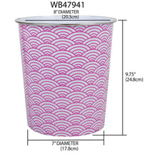 Load image into Gallery viewer, Home Basics Chevron 5 Liter Open Top Compact Decorative Round Waste Bin - Assorted Colors