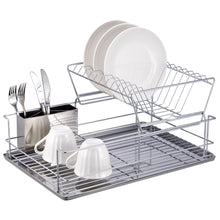 Load image into Gallery viewer, Home Basics 2-Tier 3 Piece Steel Dish Drainer CASE PACK OF 6
