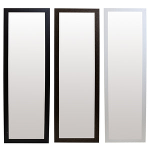 Home Basics Full Length Textured Over the Door Mirror