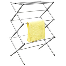 Load image into Gallery viewer, Sunbeam 3 Tier Rust-Proof Enamel Coated Steel Collapsible Clothes Drying Rack, Grey CASE PACK OF 4