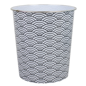 Home Basics Chevron 5 Liter Open Top Compact Decorative Round Waste Bin - Assorted Colors