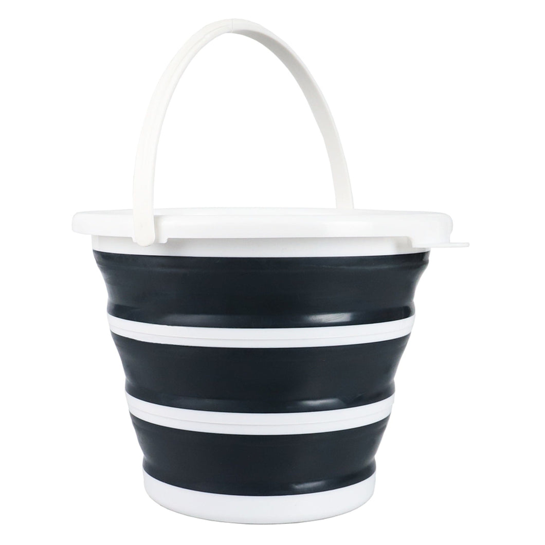 Home Basics 10 LT Collapsible Plastic Bucket, Grey CASE PACK OF 12