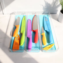 Load image into Gallery viewer, Home Basics 6 Stainless Steel  Knife Set with Colorful Slip Covers CASE PACK OF 12