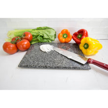 "Load image into Gallery viewer, Home Basics 8"" x 12"" Granite Cutting Board, Black CASE PACK OF 8"