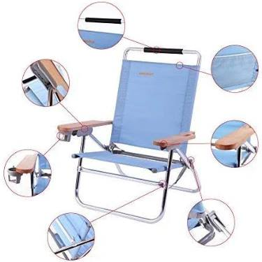 Brilliant 4 Position Beach Chair Folding Beach Lounge Cooler Chair New Home Interior And Landscaping Ferensignezvosmurscom