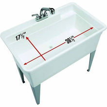Load image into Gallery viewer, Utilatub 36-Gallon Floor-Mount Utility Tub, 34 X 40 X 24 In., White - (NEW IN BOX)