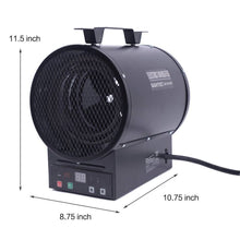 Load image into Gallery viewer, 240V Thermostat Heater Hanging Wall Electric Forced Air Heater with Mount (NEW IN BOX)