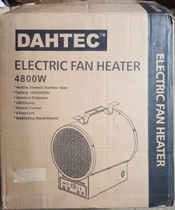 240V Thermostat Heater Hanging Wall Electric Forced Air Heater with Mount (NEW IN BOX)