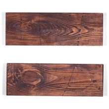 Load image into Gallery viewer, Rugged Distressed Floating Shelves 36 inch with hardware (NEW IN BOX)