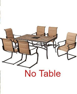 6 Padded Sling Outdoor Dining Chairs - (NEW IN BOX)