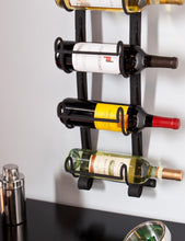 Load image into Gallery viewer, Wall Mount Wine Rack in Wrought Iron - (NEW IN BOX)