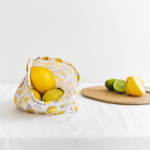 Cotton produce bag for food - Fruit - Small (3 pieces)