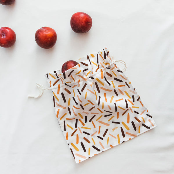 Cotton produce bag for food - Abstract - Small