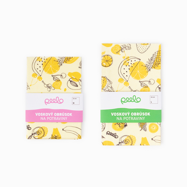 Beeswax wrap - MEDIUM + LARGE - Fruit