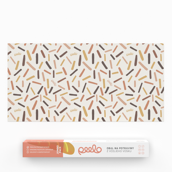 Beeswax wrap - 1 JUMBO PACK - Abstract