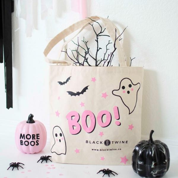 BOO TRICK OR TREAT HALLOWEEN TOTE BAG