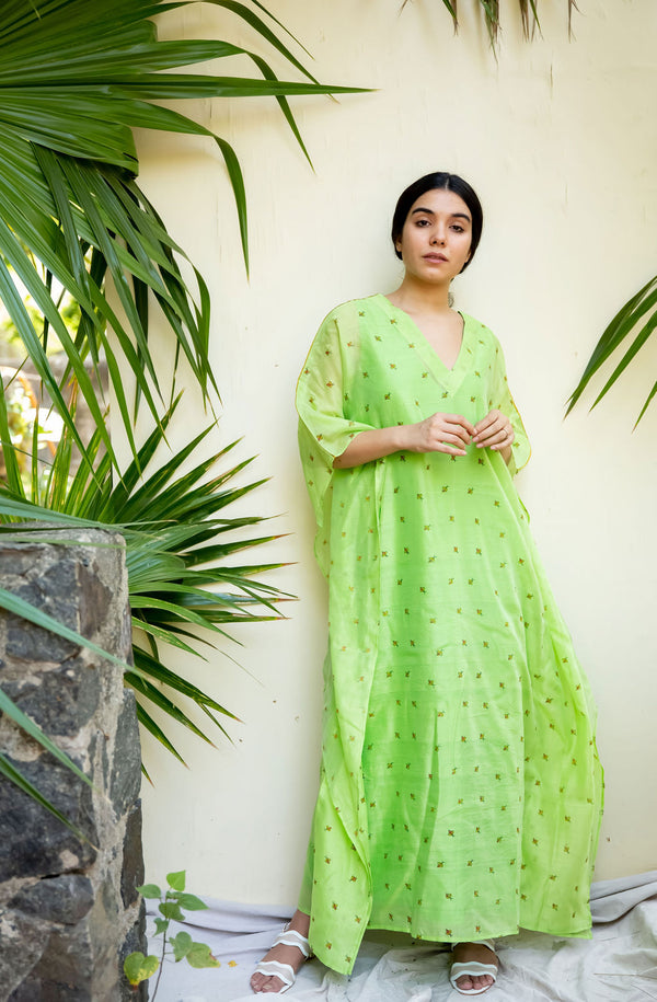 Green Bee Kaftan Dress