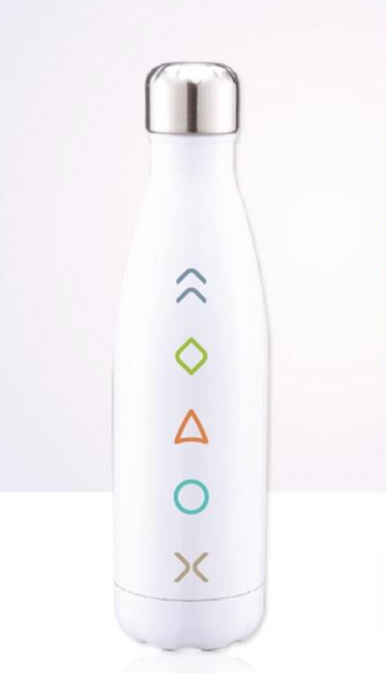 White 5 Essentials Water Bottle