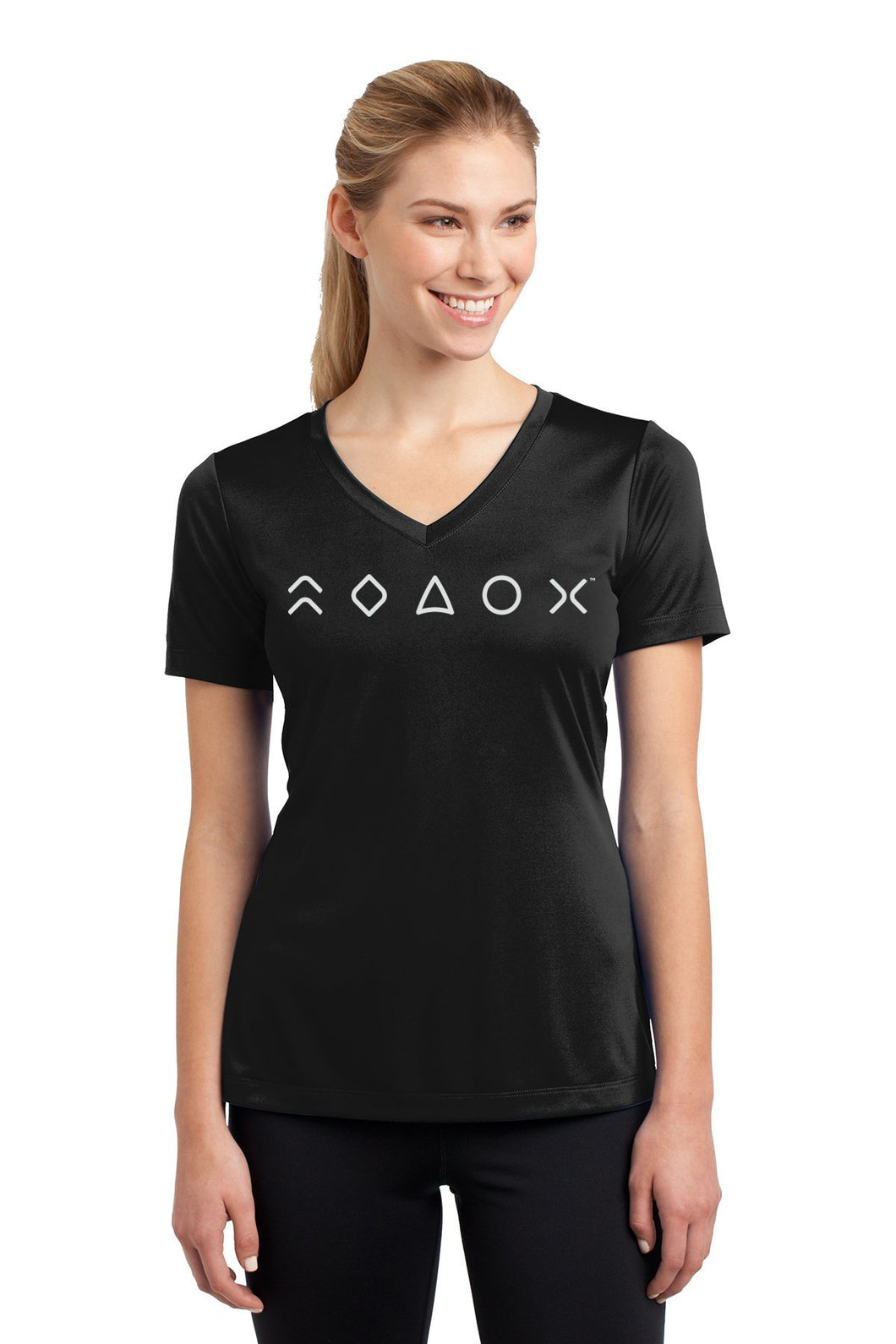 MaxLiving 5 Essentials Women's Black Short Sleeve Athletic Shirt