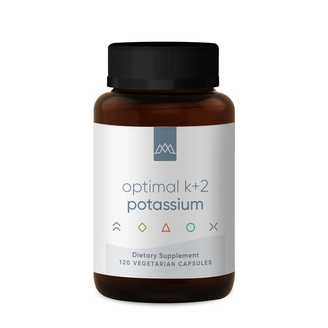 Potassium is essential to human function, and it is known to support healthy blood pressure, cardiovascular function, and build healthy muscles and bones. MaxLiving Optimal K+2 Potassium provides 300 mg of potassium per capsule, which is a higher dose of potassium than commercially available potassium supplements.