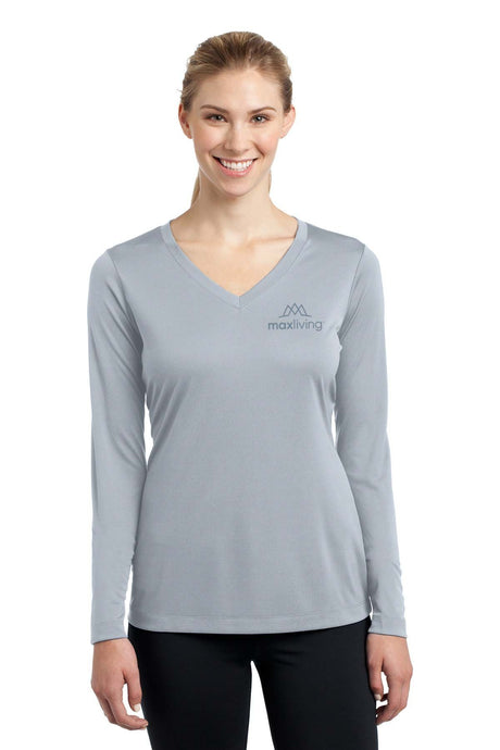 MaxLiving 5 Essentials Women's Silver Long Sleeve Athletic Shirt
