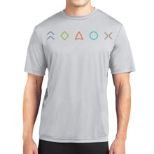 Load image into Gallery viewer, MaxLiving 5 Essentials Men's Silver Short Sleeve Athletic Shirt