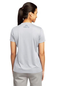 MaxLiving 5 Essentials Women's Silver Short Sleeve Athletic Shirt