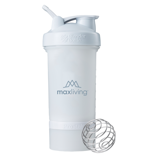 MaxLiving BlenderBottle® ProStak™ System. Featuring the BlenderBall® Wire Whisk and unique 2 Twist 'n Lock containers, the BlenderBottle® ProStak™ shaker bottle is the all-in-one solution for the serious athlete.