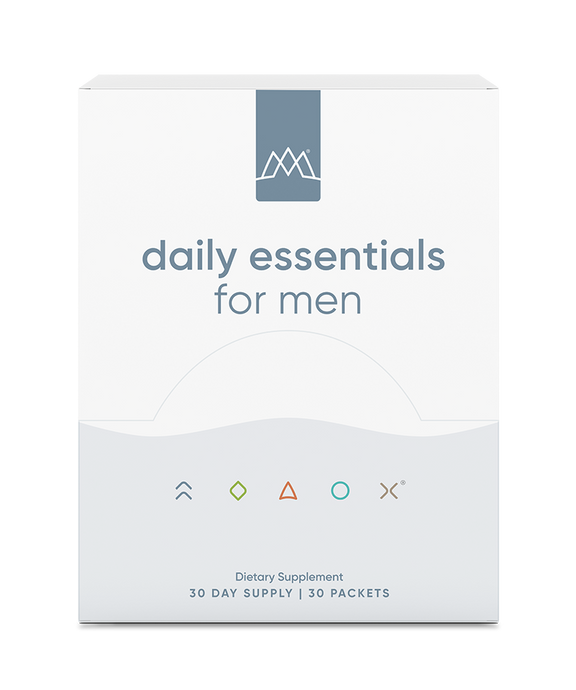 MaxLiving Daily Essentials For Men are your source of essential nutrients and additional nutrient support to keep you at your best in convenient 30-day supply packets. Included are all the vitamins your body needs to promote metabolism, improve immunity, promote skin, joint, and bone health, and more.