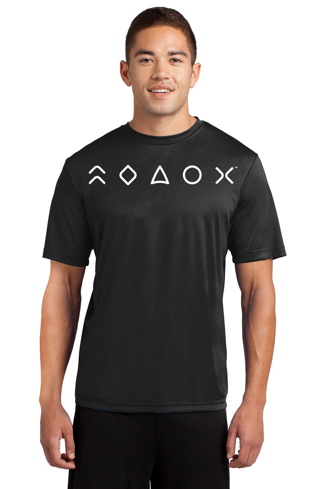 MaxLiving 5 Essentials Men's Black Short Sleeve Athletic Shirt