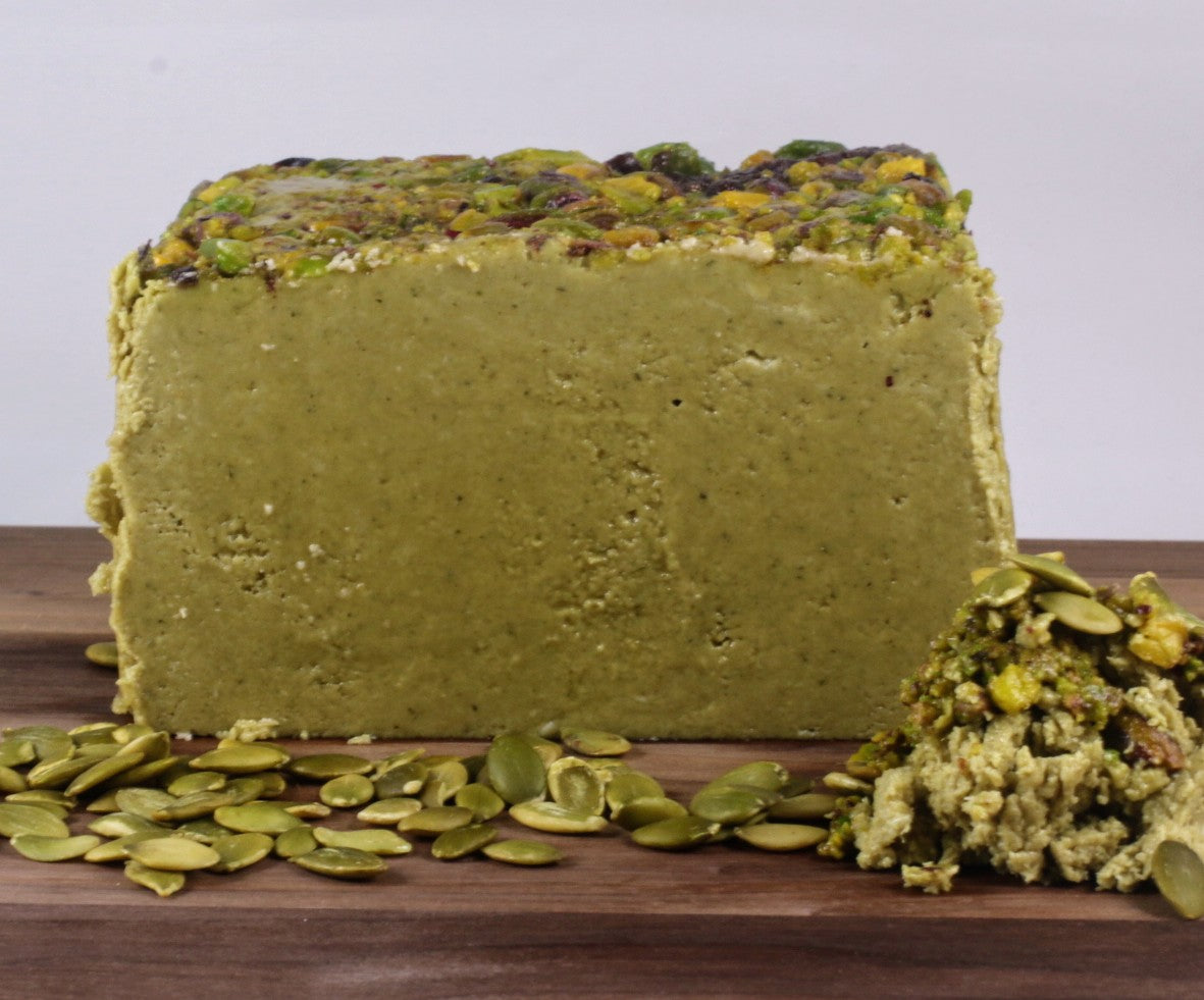 Green Pumpkin Seeds & Pistachio Halva - Vegan