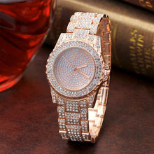 Load image into Gallery viewer, Fashion Diamond Sand Drill Surface Women Watches Gold Sliver Stainless Steel Band Quartz Wrist Watch Women Ladies Watch #510