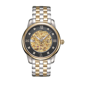 SUNBLON S510 Men's Stainless Steel Mechanical Hollow out all Watch Movement