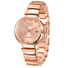 Load image into Gallery viewer, Luxury Fashion Crystal Analog Quartz Stainless Steel Lady Women Date Wrist Watch