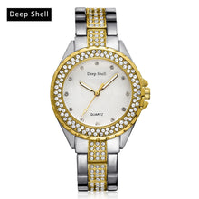 Load image into Gallery viewer, Metal Bracelet Quartz Bracelet Gold Bracelet Crystal Diamond Gold Watch