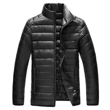 Load image into Gallery viewer, 2018 Autumn Wintet Mens Stand Collar Duck Down Jakcet Light Thin Solid Casual Coat Men Outwear Ultralight Down Jackets Plus Size