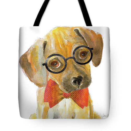 Nerd Pup Square Tote Bag