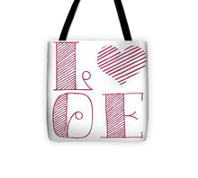Load image into Gallery viewer, Love Heart Pink Tote Bag