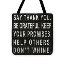 Load image into Gallery viewer, Say Thank You Tote Bag