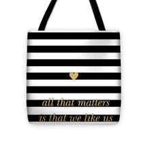 Load image into Gallery viewer, Valentine's Stripe II Tote Bag